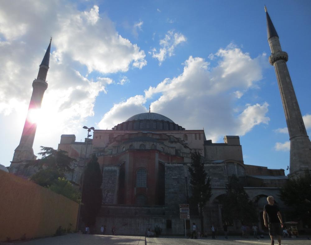 Hagia Sophia sunshine